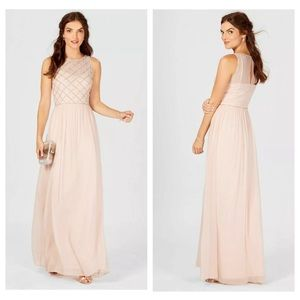 Adrianna Papell Chiffon Beaded Gown